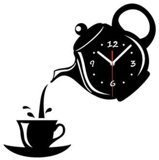 """Creative Motion Work with your hand to create a DIY Acrylic Tea Cup Clock. It comes complete with clock, clock hands, tes cup and an instruction. . Product Size: Width: 8.5"""" x Height: 6"""" x Depth: 0.7"""""""