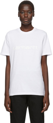 Carhartt Work In Progress White Script Logo T-Shirt