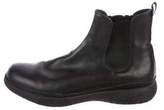 Prada Sport Leather Chelsea Boots