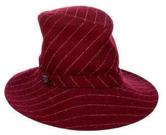Philip Treacy Striped Wool Hat