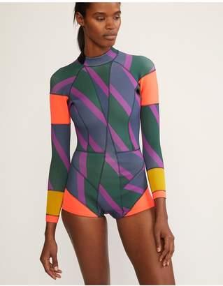 Cynthia Rowley Zig-Zag Stripe Wetsuit