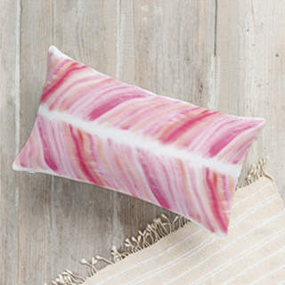 Brushed Herringbone Lumbar Pillow