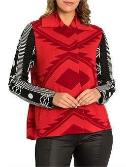 Marc O'Polo Marco Polo Long Sleeve Aztec Jacket