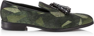 2ff11a68918 Jimmy Choo FOXLEY Army Mix Distressed Camo Loafers