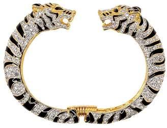Kenneth Jay Lane Black Crystal Tiger Bracelet