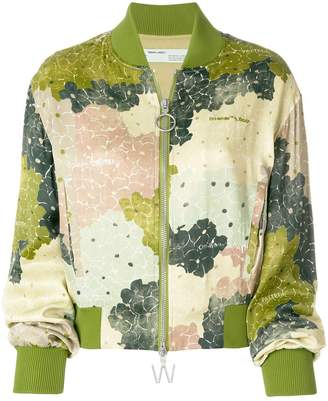 Off-White floral print bomber jacket