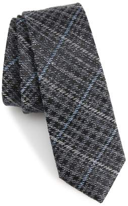 The Tie Bar Quinn Plaid Silk Skinny Tie