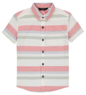 George White Pastel Striped Short Sleeve Shirt