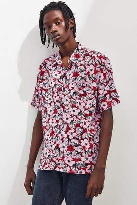 Urban Outfitters 90s Patterned Rayon Button-Down Shirt