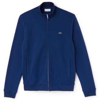 Lacoste Men's Zippered Stand-up Collar Fleece Sweatshirt