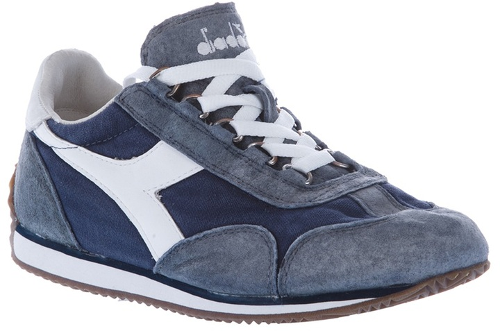 Diadora suede panel sneaker