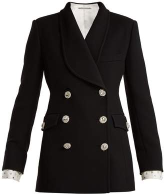 ALESSANDRA RICH Double-breasted Swarovski button blazer