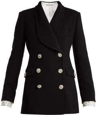 Swarovski ALESSANDRA RICH Double-breasted button blazer