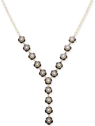 "INC International Concepts I.n.c. Gold-Tone Stone Pave Flower Lariat Necklace, 24"" + 3"" extender, Created for Macy's"