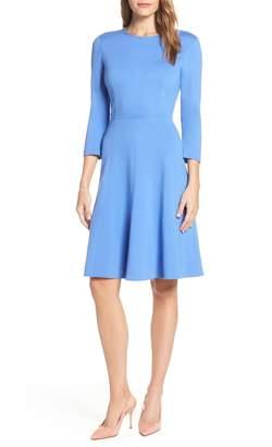 Eliza J Seamed Fit & Flare Dress