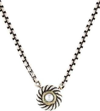 David Yurman Pearl Cookie Pendant Necklace
