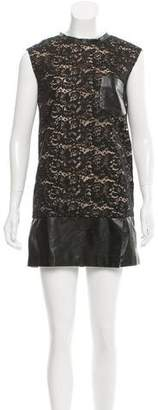 3.1 Phillip Lim Leather Lace-Paneled Dress