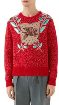 Gucci Wool Jacquard Knit Sweater