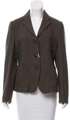 Massimo Alba Notch-Lapel Herringbone Blazer