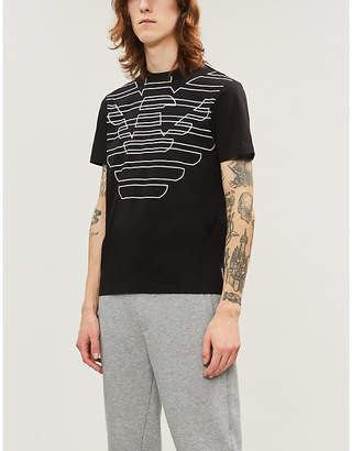 Emporio Armani Eagle logo cotton-jersey T-shirt