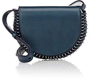 Paco Rabanne Women's 14#02 Half Moon Leather Mini Crossbody Bag - Navy