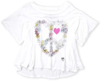 Dirtee Hollywood Girls 7-16) Floral Peace Heart Tee