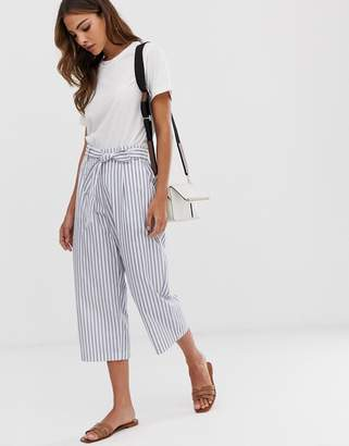 B.young stripe tie waist pants coord