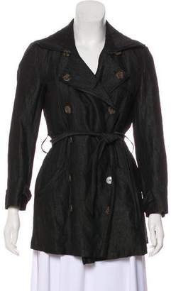 Gryphon Double-Breasted Belted Coat