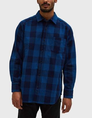 Beams Japan Check Shirt in Blue