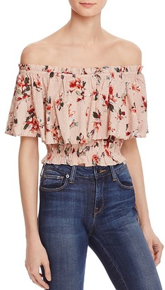 En Créme Off-The-Shoulder Floral Top - 100% Exclusive $48 thestylecure.com