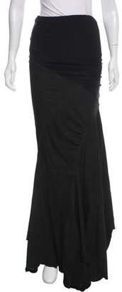 Donna Karan Leather-Paneled Maxi Skirt