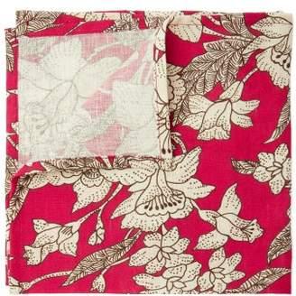La Doublej - Floral Print Linen Napkin Set - Womens - Red White