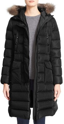 Women's Moncler 'Khloe' Water Resistant Nylon Down Puffer Parka With Removable Genuine Fox Fur Trim $1,975 thestylecure.com