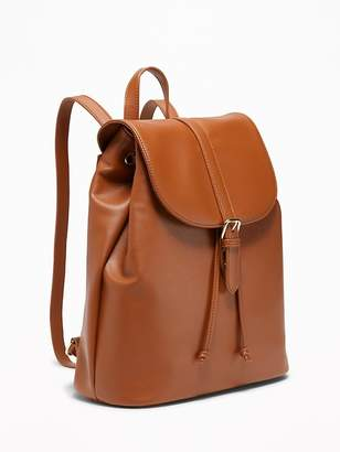 Old Navy Faux-Leather Cinched-Top Backpack for Women