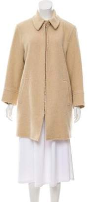 Luciano Barbera Twill Knee-Length Coat