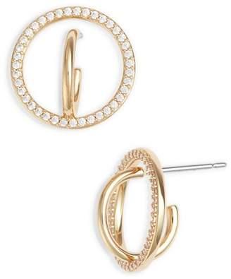 Nadri Cubic Zirconia Hoop Earrings