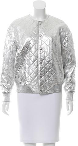 Saint LaurentSaint Laurent Fall 2016 Metallic Leather Jacket