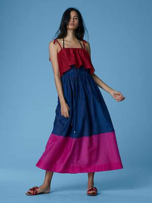 Diane von Furstenberg Sleeveless Pleated Maxi Dress