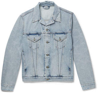 Gucci Appliqued Distressed Denim Jacket - Men - Light denim