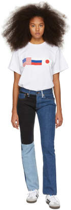 Gosha Rubchinskiy Navy Levis Edition Patchwork Jeans