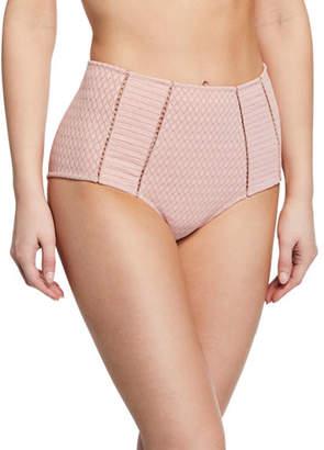 Jonathan Simkhai Lace High-Waist Bikini Swim Bottoms