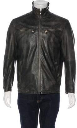 Gimo's Italiana Leather Zip-Up Jacket