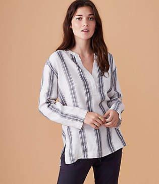 Lou & Grey Striped Pop On Shirt
