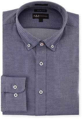 Neiman Marcus Extra X-Trim Fit Regular-Finish Diamond-Print Dress Shirt