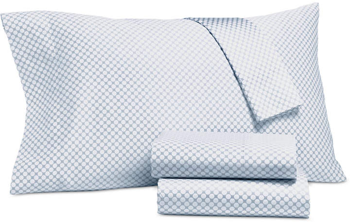 Damask Designs Printed Dot King Pillowcase Pair, 500 Thread Count, Created for Macy's Bedding