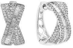 Effy 14K White Gold Diamond Bow Stud Earrings
