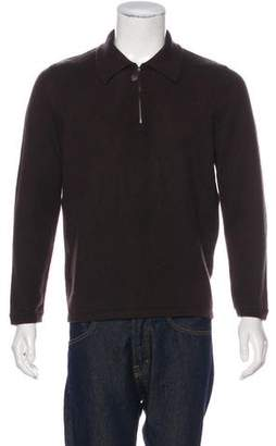 Hermes Leather-Trimmed Cashmere Sweater