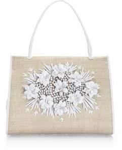 Nancy Gonzalez Floral Embellished Tote