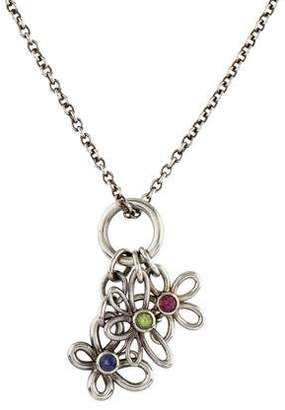 Tiffany & Co. Multistone Butterfly, Flower & Dragonfly Pendant Necklace