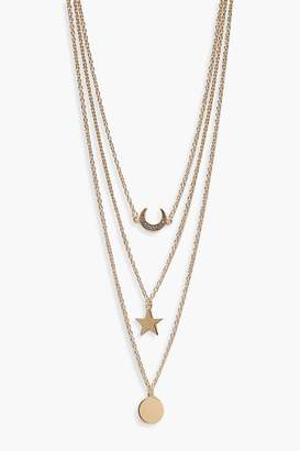 boohoo Layered Lucky Horseshoe Trinket Necklace